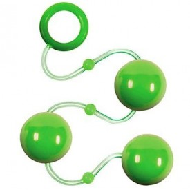 Зеленые анальные шарики Renegade Pleasure Balls