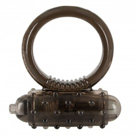 Дымчатое эрекционное виброкольцо Vibro Ring Dark
