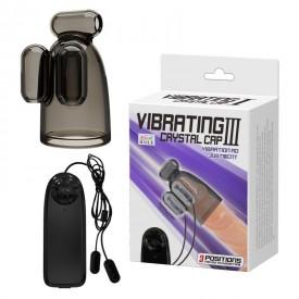 Дымчатая насадка-мастурбатор с вибрацией Vibrating Crystal Cap III